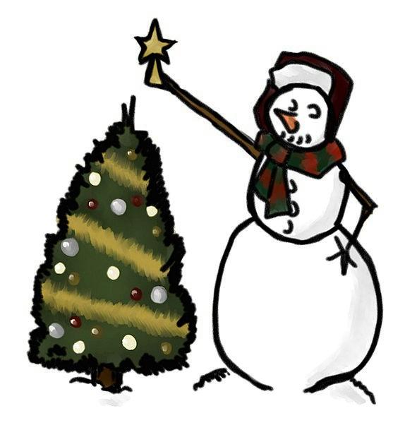 Snowman Tree Sapling Christmas Celebration Holiday