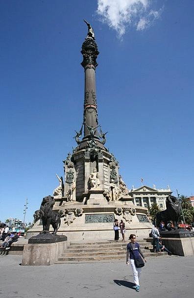 Barcelona Buildings Memorial Architecture Columbus