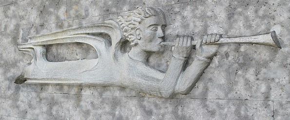 Relief Respite Seraph Trombone Angel Horn Siren Fl