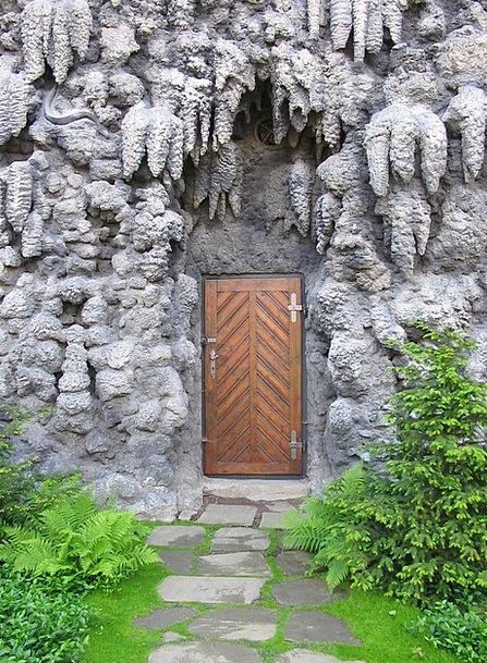 Door Entrance Fake Artificial Stone Pebble Rock Ga