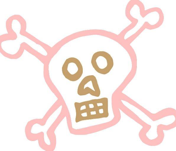 Skull And Crossbones Hazard Death Demise Danger Ho