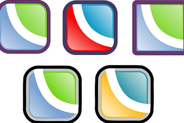 Symbols Ciphers Keys Squares Quadrangles Buttons R