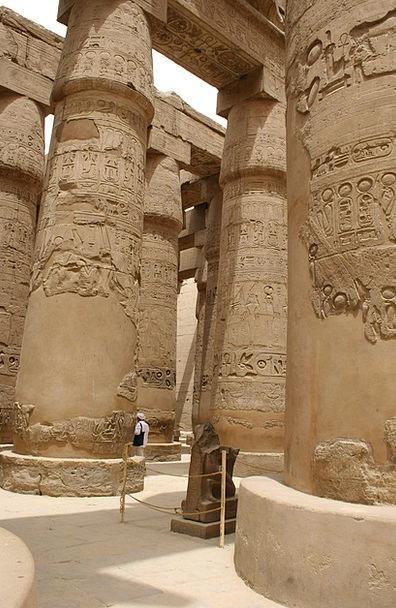 Egypt Pillars Ancient Antique Columns Pharaoh Rule