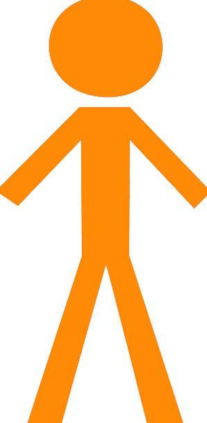 Stickman Being Orange Carroty Person Gentlemen Nob