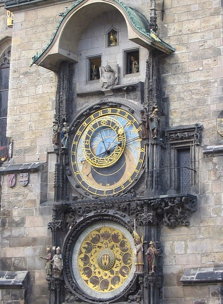Prague Buildings Timepiece Architecture Czech Cloc
