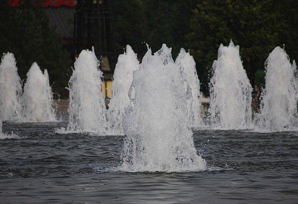 Fountains Cascades Aquatic White Snowy Water Pool