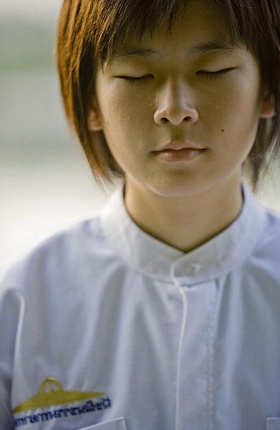 Girl Lassie Buddhist School Girl Children Meditate