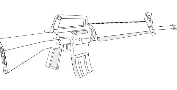 Gun Rifle Ransack M16 Forces Weapon Armament Ar15