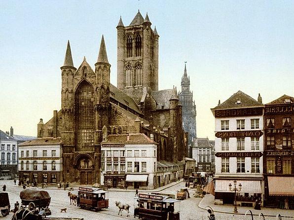 Church Ecclesiastical Ghent Saint Nicholas Belgium