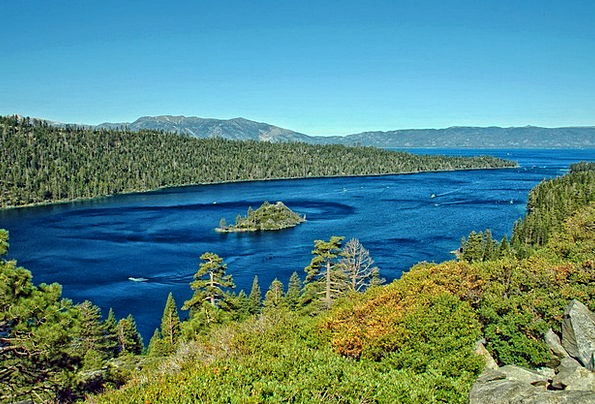 Lake Tahoe Landscapes Nature Water Aquatic Califor