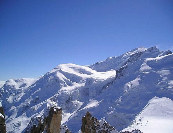 Mont Blanc Alpine Mountainous Chamonix Snow Snowfl