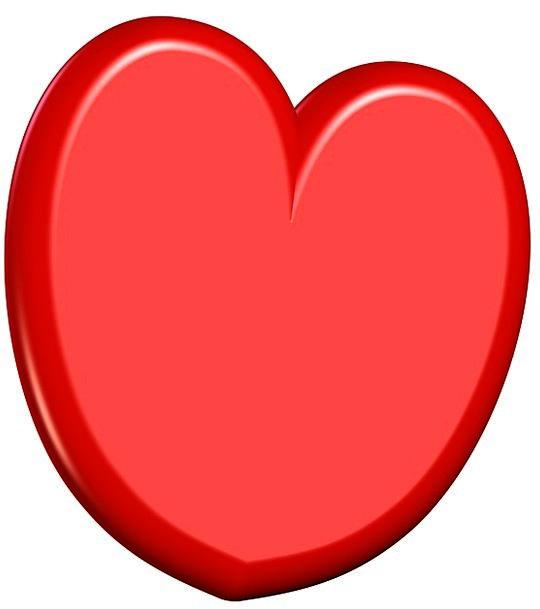 Heart Emotion Bloodshot Shapes Forms Red 3d Love Darling