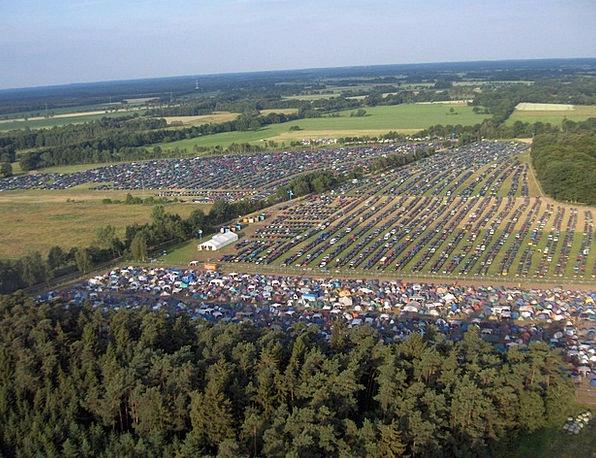 Festival Centenary Parking Space Aerial View