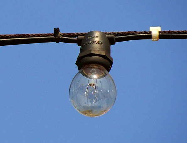 Light Bulb Postponed Outdoors Out-of-doors Suspend