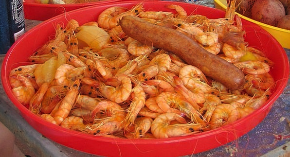 Crawfish Drink Food Prawns Shrimps Fried Cooked Sa