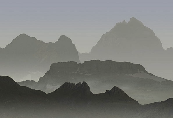 Mountains Crags Landscapes Scenery Nature Sun Suns