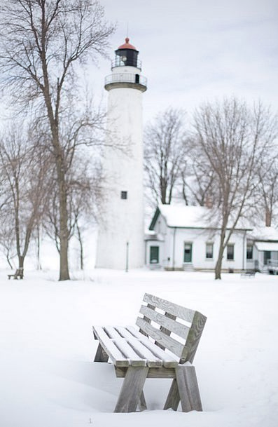 Lighthouse Buildings Seat Architecture White Bench