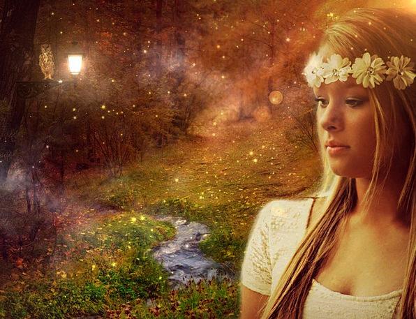 Magic Enchanted Girl Lassie Fairytale Mystical Wom