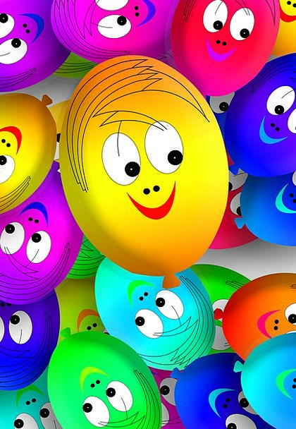 Faces Expressions Balloons Inflatables Ballons Col