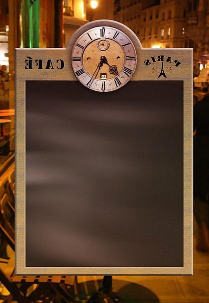 Menu Bowl Blackboard Board Plate Enter Clock Timep