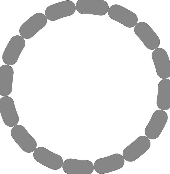 Circle Ring Scattered Dot Spot Dotted Symbol Sign