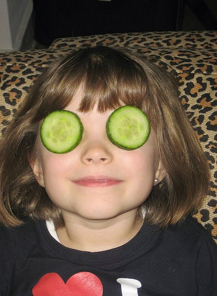 Cucumber Cover Child Youngster Mask Female Face Ex