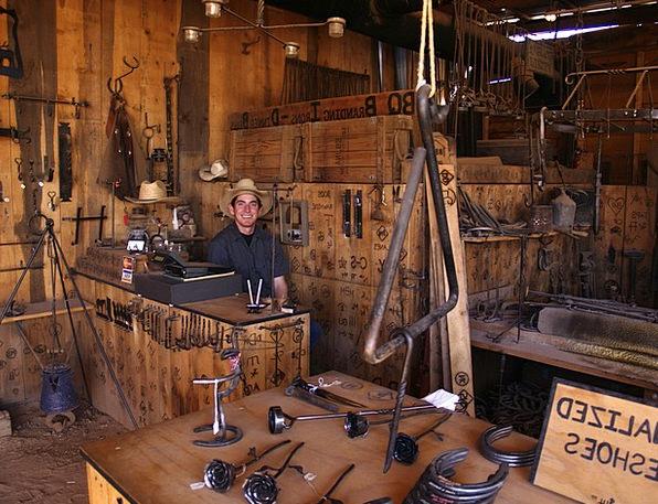 Horseshoe Maker Wild West Brand Sign Arizona Usa P