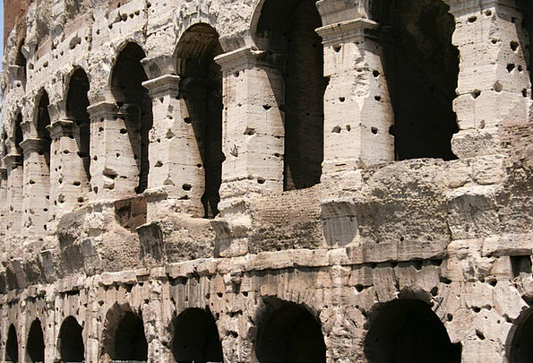 Colosseum Monuments Classical Places Italy Roman C