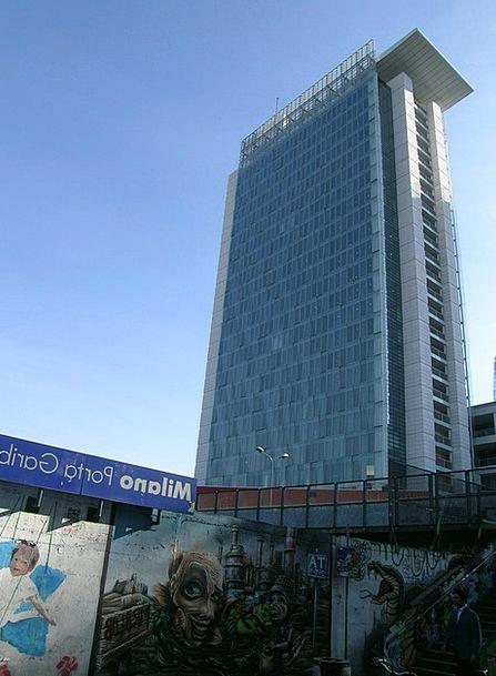 Milan Skyscraper Tower Porta Garibaldi Station Pos