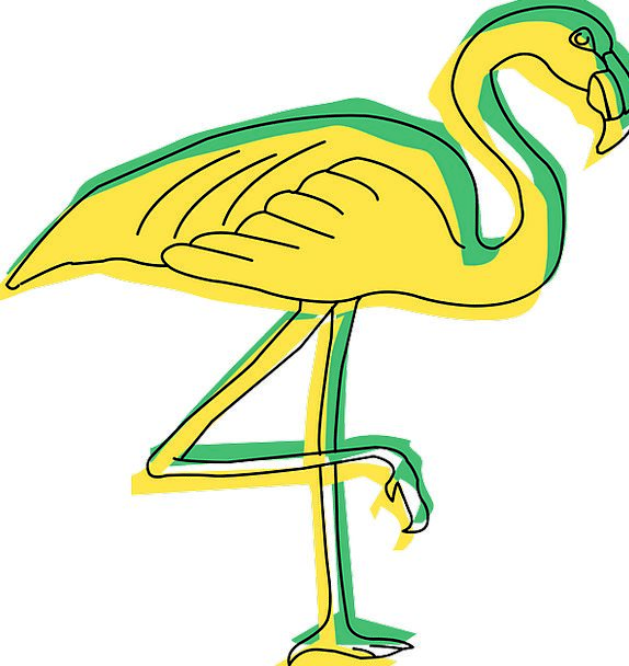 Green Lime Creamy Bird Fowl Yellow Wings Annexes F