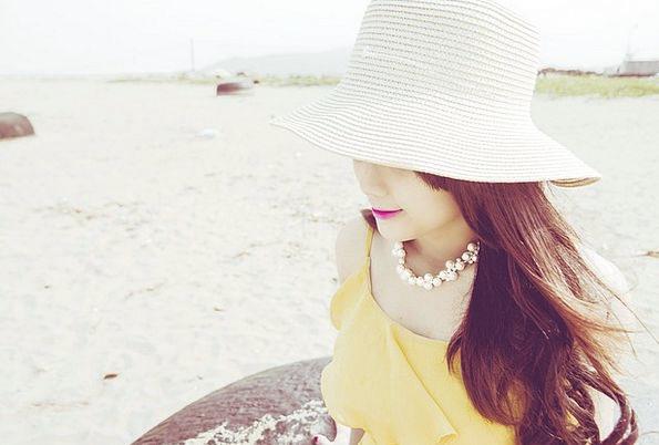 Girl Lassie Sundown Summer Straw-hat Sunset Beauty