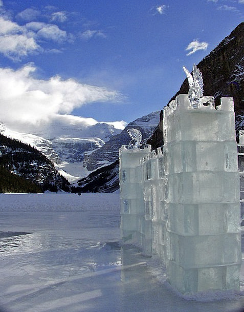 Lake Louise Canada Alberta Ice Castle Glacier Blue