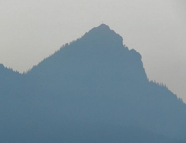 Mountain Crag Landscapes Taillight Nature Haze Mis