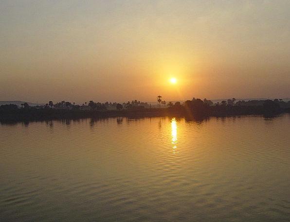 Sunset Sundown Vacation Travel Egypt Nile River St