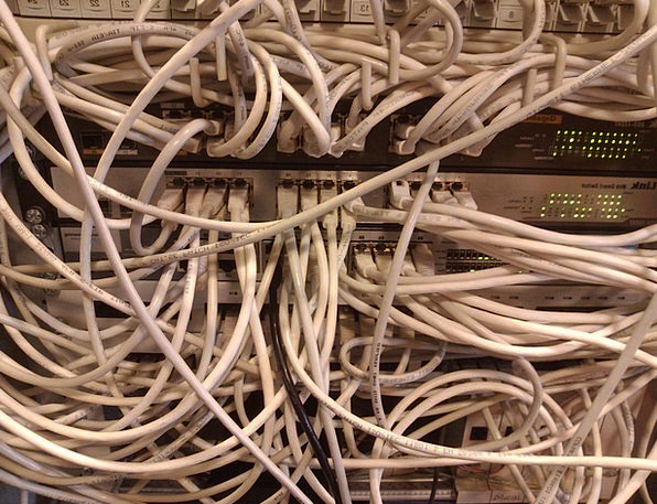 Clutter Mess Chain Network Net Cable Switch Change