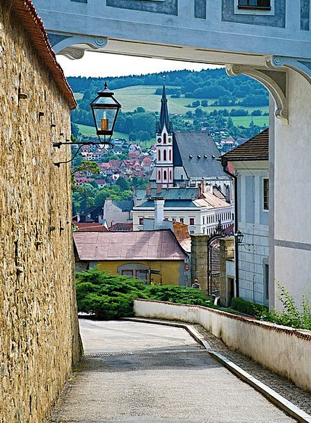 Czech Wall Partition Krumlov Old Building Stone Pe