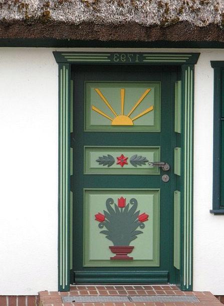 Door Entrance Tinted Baltic Sea Painted Darß Cultu