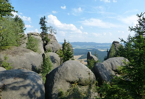 Rocks Pillars View Opinion Broumovsko