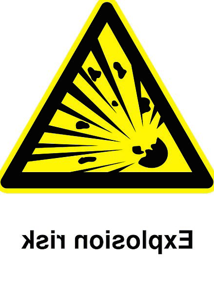 Explosions Bangs Sign Caution Carefulness Pictogra