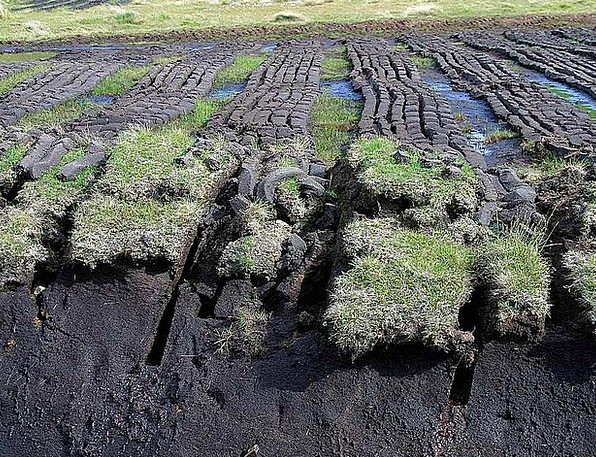 Ireland Landscapes Wounding Nature Peat Mulch Cutt