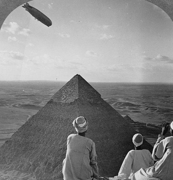 Pyramids Graf Zeppelin Gizeh 1931 Zeppelin Black A