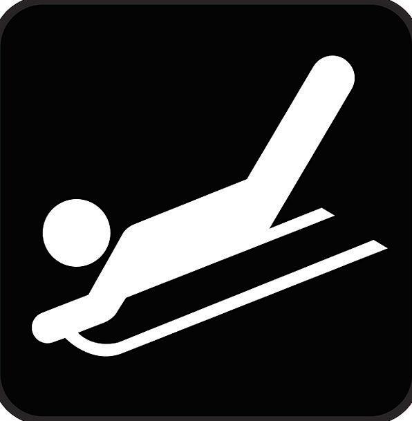Sled Bobsled Slip Tobogganing Sledging Skid Symbol