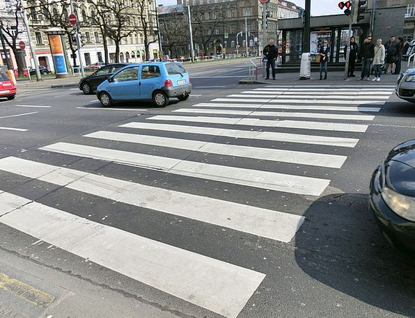 Zebra Crossing Traffic Street Transportation City