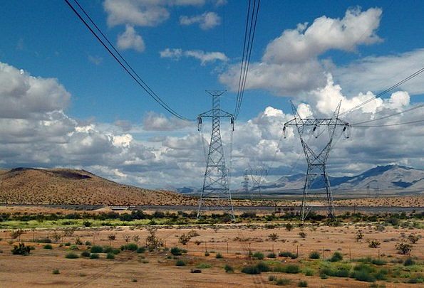Power Poles Landscapes Vapors Nature Sky Blue Clou