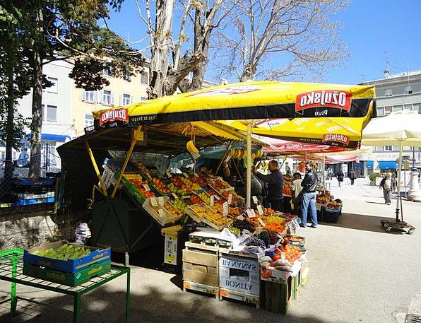 Pula Istria Croatia Marketplace Bazaar Fruit Marke