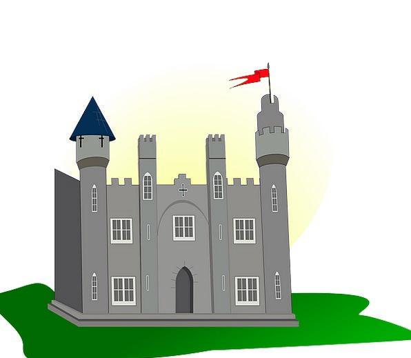 Castle Standard Tower Barbican Flag Medieval Feuda
