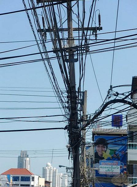 Current Present High Voltage Power Poles Line Stre