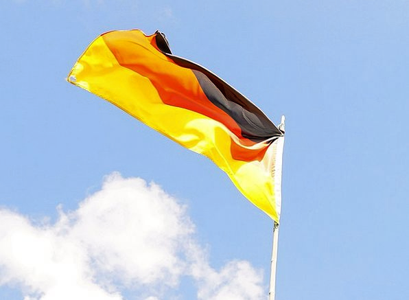 Flag Standard Mast Sky Blue Flagpole Germany Wm200