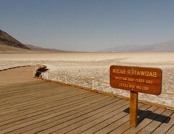 Badwater Salt Pan Badwater Basin California Salt L