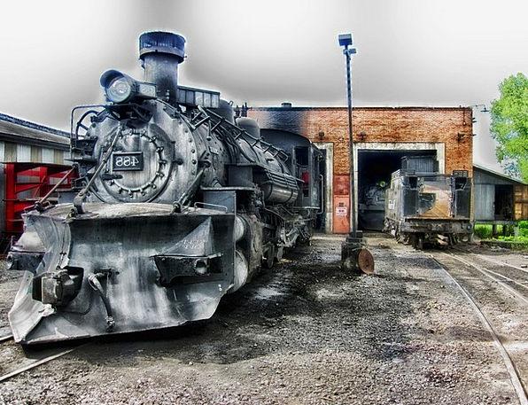 Locomotive Vacation Pullman Travel Steam Engine Tr
